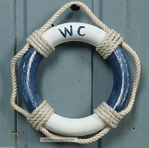 Maritime Deko Bad : holz rettungsring wc blau wei 14cm f r die maritime bad deko ~ Bigdaddyawards.com Haus und Dekorationen