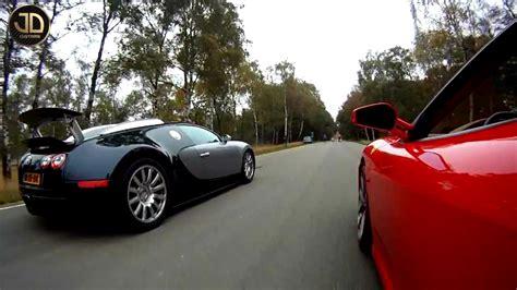 Bugatti Veyron Vs Ferrari F430 Jdc!