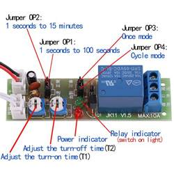 Adjustable Trigger Cycle Timer Delay Off