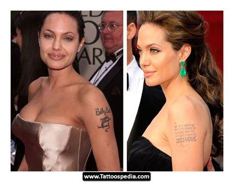 angelina jolie tattoo removal tattoo love