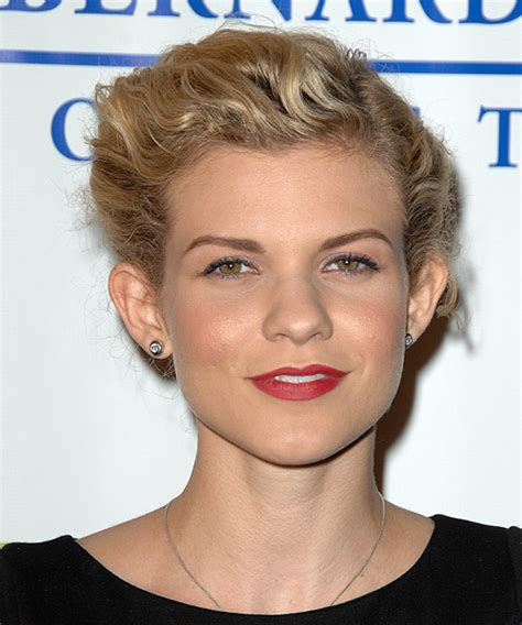 angel mccord long curly blonde updo