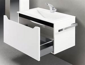 Badmöbel 80 Cm Waschtisch : badm bel set mit waschtisch 80 cm schwarz hochglanz griffleiste 906 ~ Bigdaddyawards.com Haus und Dekorationen