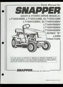 Original Factory Snapper Series B Riding Mowers Service