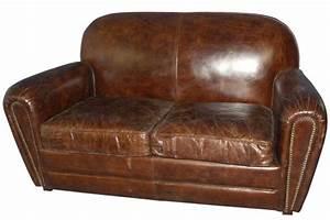 Canapé Vintage Cuir : canap cuir vintage marron ~ Teatrodelosmanantiales.com Idées de Décoration