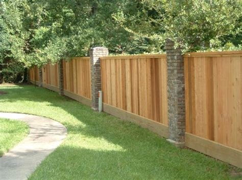 brick and wood fence pictures brick wood fence 3 go2idea