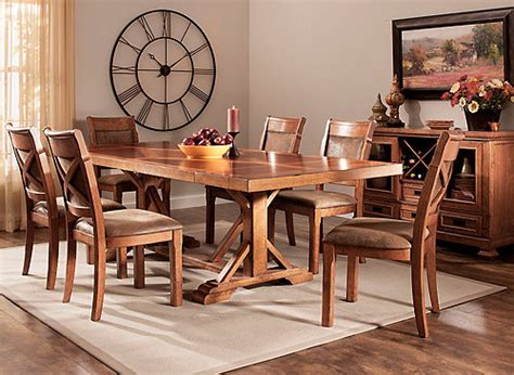 soleste  pc dining set brown raymour flanigan