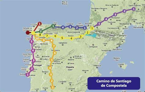 camino santiago map camino de santiago map map q holidaymapq