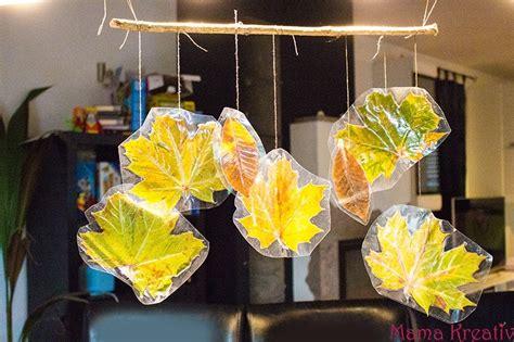 basteln mit kindern im herbst 8 ideen mit naturmaterialien kreativ