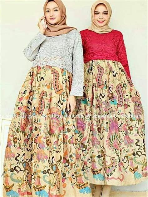 model gamis batik kombinasi brokat terbaru
