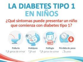 infografia la diabetes tipo  en ninos