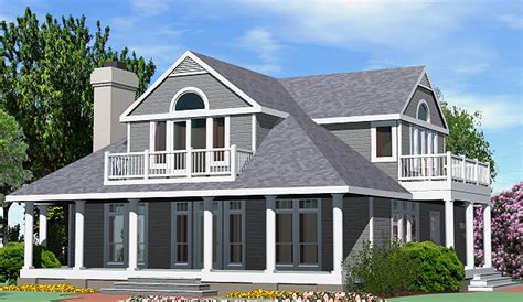 shingle cottage balcony option  sf southern cottages