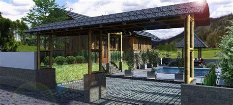 gambar desain rumah bambu modern  unik rumah