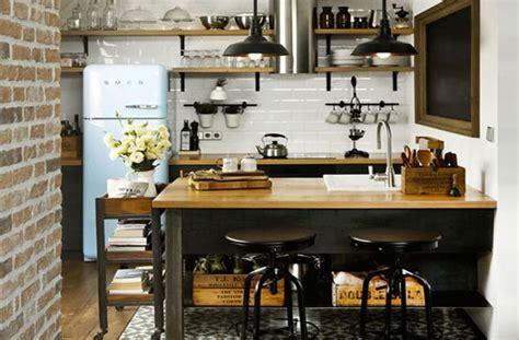 cuisine style industrielle décoration cuisine industrielle
