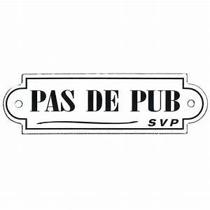 Pas De Pub Merci : plaque m tal pas de pub x h 5 5 cm leroy merlin ~ Dailycaller-alerts.com Idées de Décoration