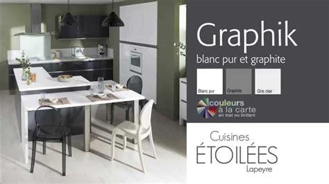 cuisiniste lapeyre les meubles de cuisine graphik blanc pur et graphite