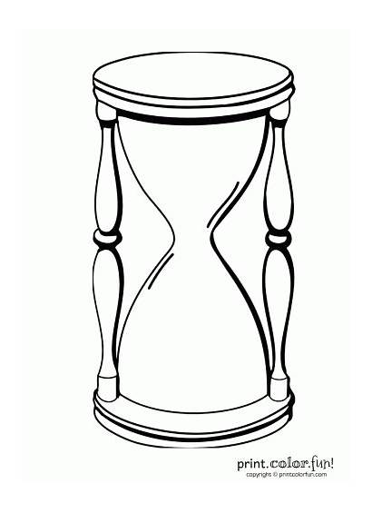 Hourglass Coloring Tattoo Pages Template Outlines Outline
