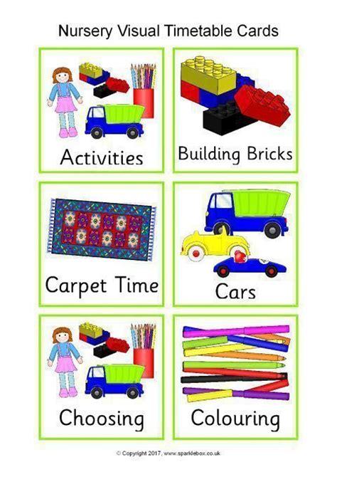 visual timetable  nurseries sb sparklebox