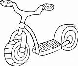 Coloring Pages Scooter Electric Getdrawings Toy Template sketch template