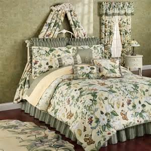 williamsburg garden images 4pc queen comforter set new ebay