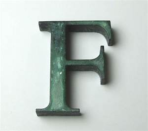 cast bronze lettering with patina finish bronze With cast bronze sign letters