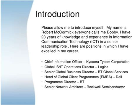 introduce yourself curriculum vitae 28 images