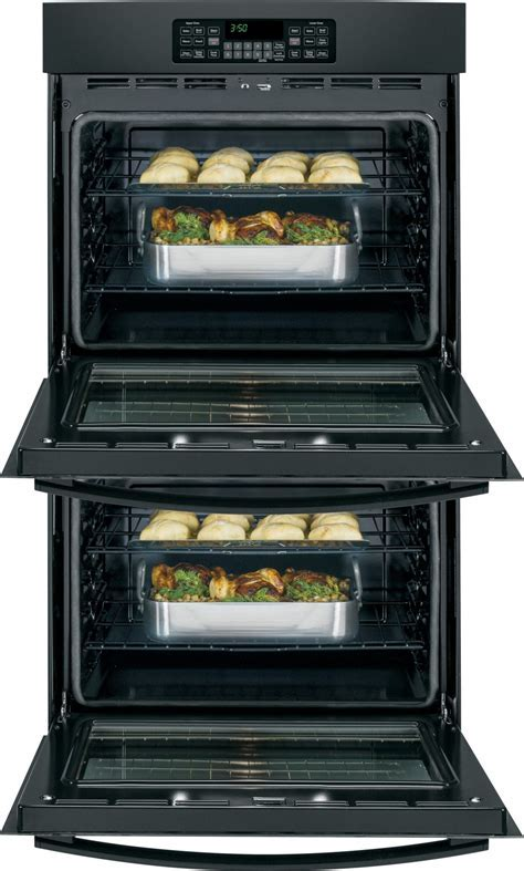 """JT3500DFBB   GE 30"""" Built In Double Wall Oven   Black"""