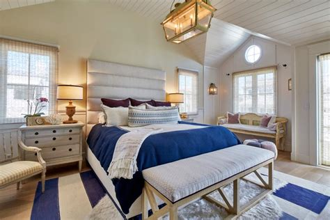 Soothing Nautical Hues In Master Bedroom