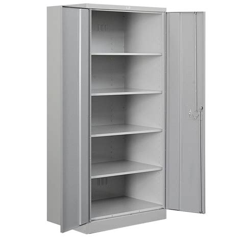 Metal Cabinet - salsbury industries 36 in w x 78 in h x 18 in d 4 shelf