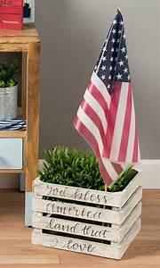 Rustic, Americana, Crate, Decor