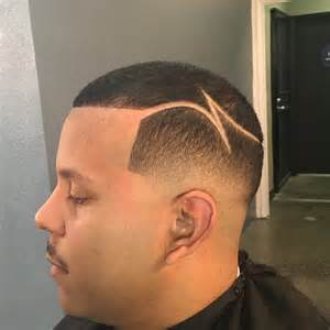 Low Top Fade with Part Haircut