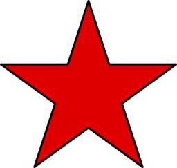 Black with Red Star Transparent Background
