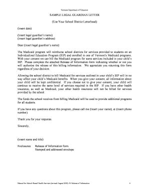 editable guardianship letter  school enrollment fill