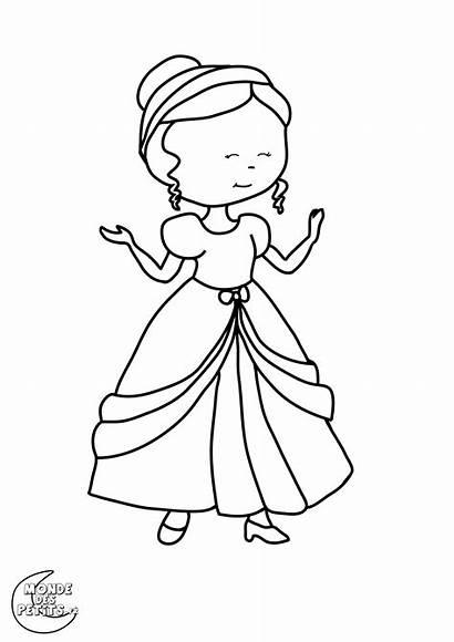 Coloring Princesses Pages Children