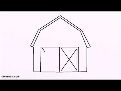 How To Draw A Barn by E 3104 How To Draw Barn Easy For Beginners Step By Step