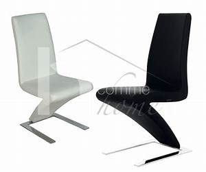 Chaise pu noir pu blanc moselle zd1 c d ec 127jpg for Chaise salle a manger cuir noir pour deco cuisine