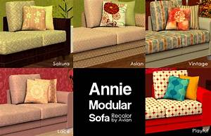Mod the sims recolors of blake boy39s annie modular sofa for Sims 3 sectional sofa download