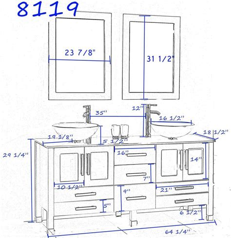 Kitchen Fixtures Standard Dimensions by Ideas Standard Height For Bathroom Vanity With Vessel Sink
