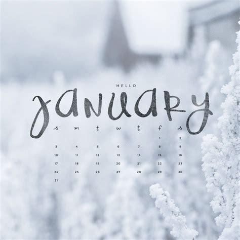 Hello January! Downloadable Calendar Freebie  To Live