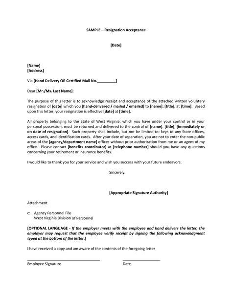 Sample Employee Resignation Acceptance Letter - How to write an employee Resignation Acceptance