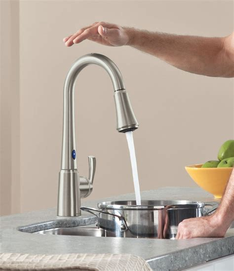 touch activated kitchen faucet top kitchen faucets light sensor awesome touch sensor