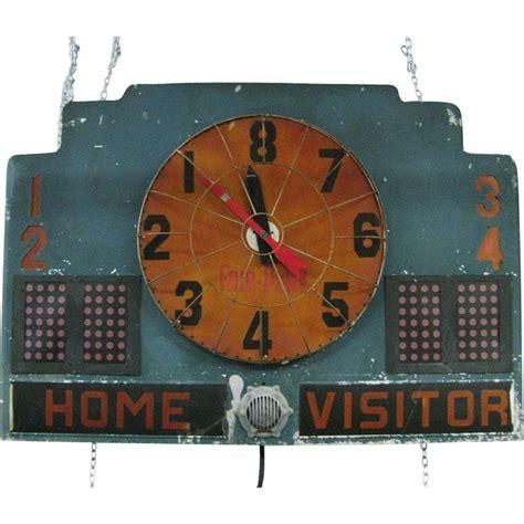 vintage basketball scoreboard lighted fair play wonderful
