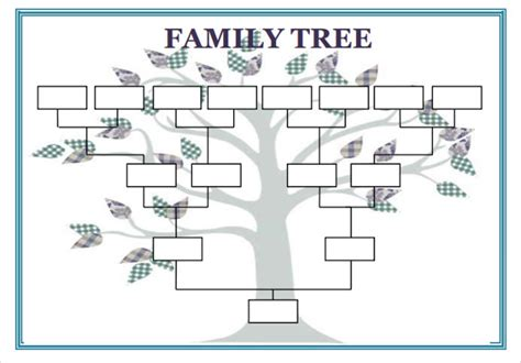 blank family tree template   word  documents