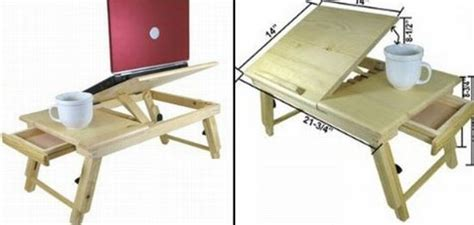 Adjustable Computer Laptop & Bed Desk Lets You Relax While