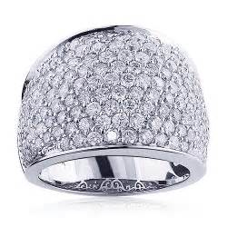pave wedding bands womens 14k gold pave fashion ring 3 6ct wedding band