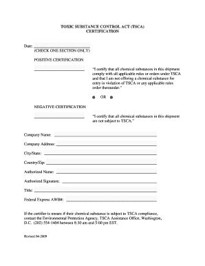 loan processor certification form tsca certification fill online printable fillable