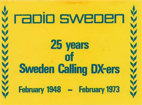 Sweden Ratio radio sweden stockholm qsl cards