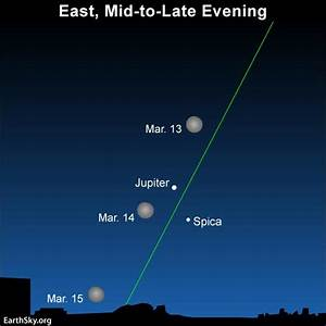Moon and Jupiter March 13 and 14   Sky Archive   EarthSky