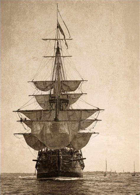 Boat Kept On A Larger Ship by Sailing Ship