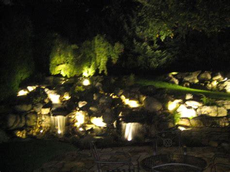 amazing best led landscape lights 2 waterfall landscape