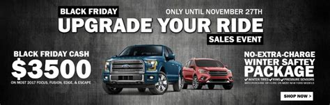 black friday ford upgrade  ride sales event